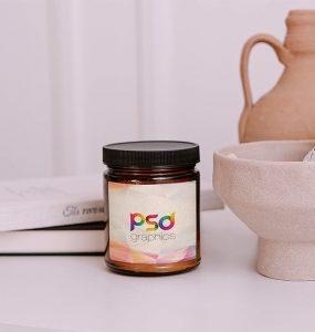 Small Glass Jar Branding Mockup