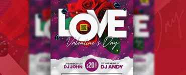 Special Valentine's Day Party Flyer Template
