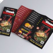 Trifold Food Menu Brochure Design Template