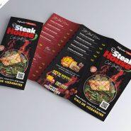 Trifold Food Menu Brochure Design Template
