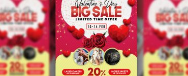 Valentine's Day Sale Flyer Template PSD