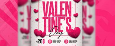 Valentines Day Party Flyer Design Template