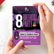 Beautiful Birthday Party Invitation Card Template