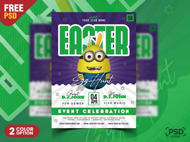 Easter Party Event Flyer Design Template