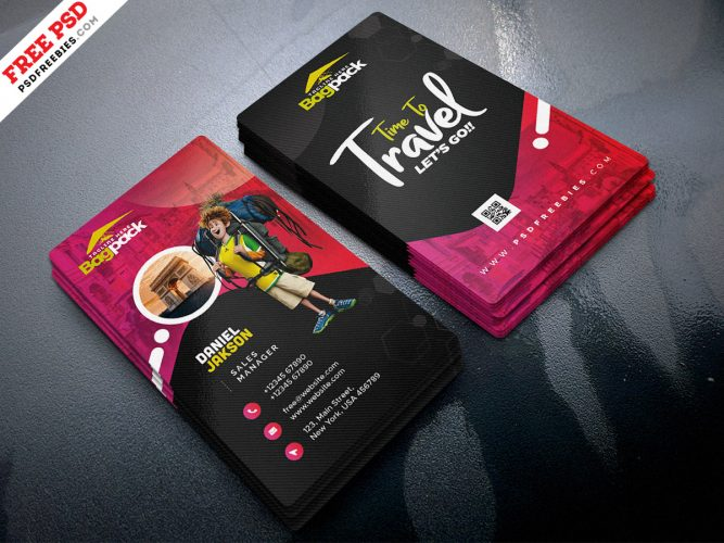 Free Travel Agency Business Card Design Template