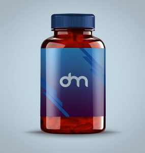Pills Bottle Mockup PSD