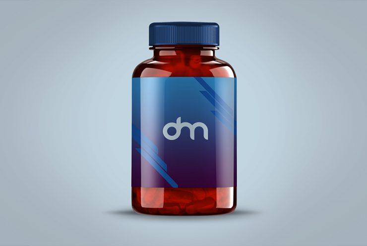 Pills Bottle Mockup PSD