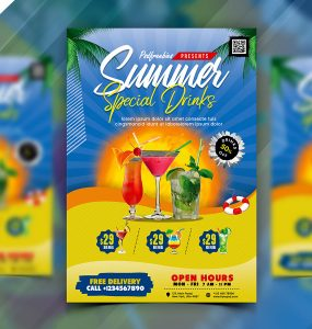 Summer Drinks Menu Design PSD