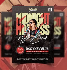Creative Party Flyer Design Template