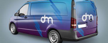 Delivery Van Mockup Template