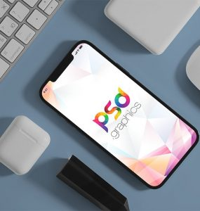 Free iPhone Flat Lay Mockup
