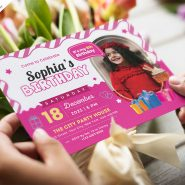 Kids Birthday Party Invitation Card Design Template