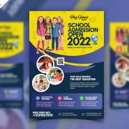 School Admission Flyer Design Template