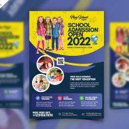 School Admission Flyer Design Template