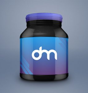 Supplement Jar Packaging Mockup
