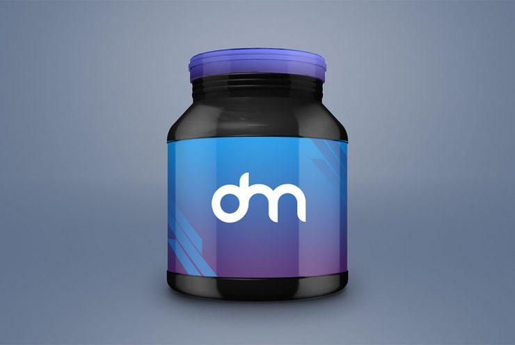 Supplement Jar Packaging Mockup