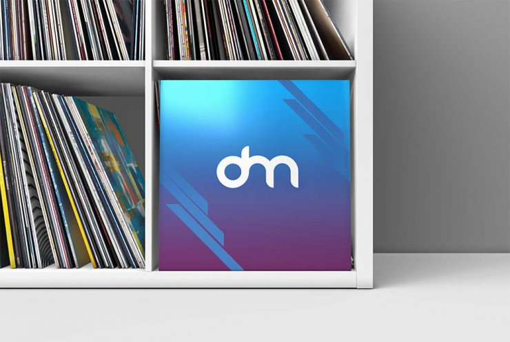 Vinyl Record Cover Mockup Template
