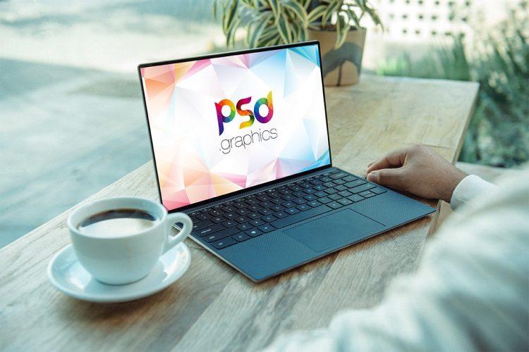 Working on Windows Laptop Mockup PSD