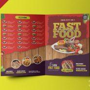 Bi-Fold Restaurant Food Menu Design Template