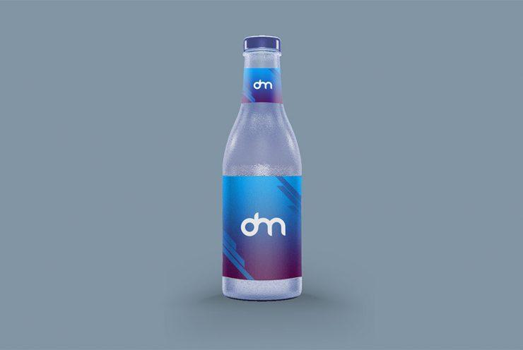 Glass Bottle Label Mockup Template