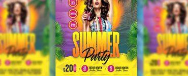 Summer Party Flyer Design PSD Template