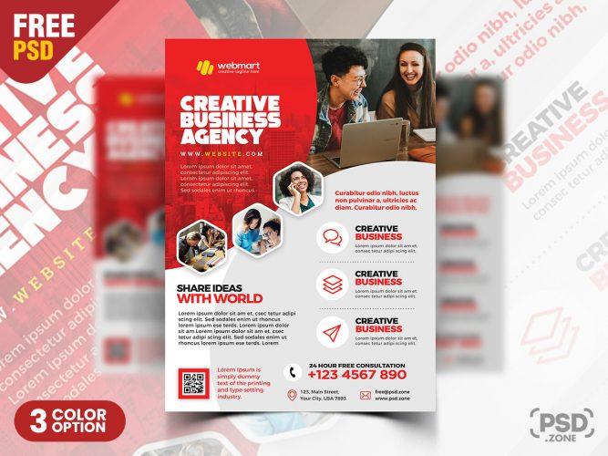 Free Corporate Flyer Design PSD Template