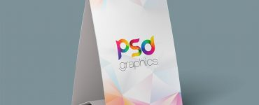 Free Tent Card Mockup Template