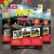Adventure Tour Travel Flyer Design Template
