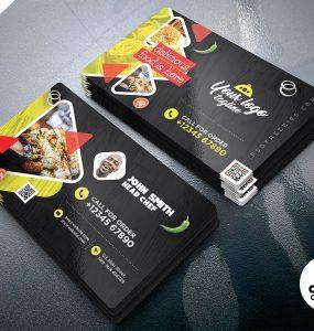 Creative Restaurant Business Card Design Template