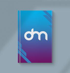 Flat Lay Hardcover Book Mockup PSD