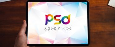 iPad Pro in Hand Mockup PSD