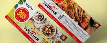 Restaurant Gift Voucher Design Template