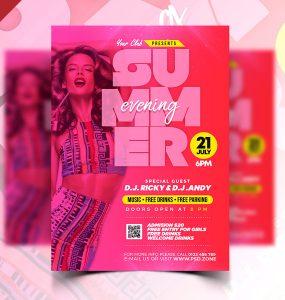 Summer Evening Party Flyer Template