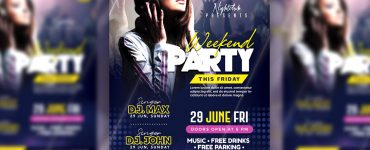Weekend Party Event Flyer Template