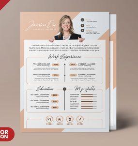 Clean Premium Resume CV Template PSD
