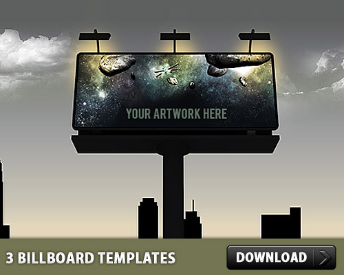 3 billboard psd templates download download psd. Black Bedroom Furniture Sets. Home Design Ideas