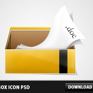 3D Box Icon PSD