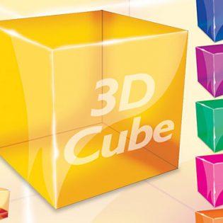 3D Cube PSD file