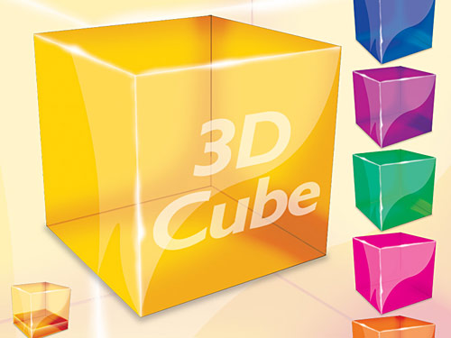 3D Cube PSD file Web Resources, Web 2.0, PSD, Objects, Layered PSDs, Icons, Glossy, Glassy, 3D,