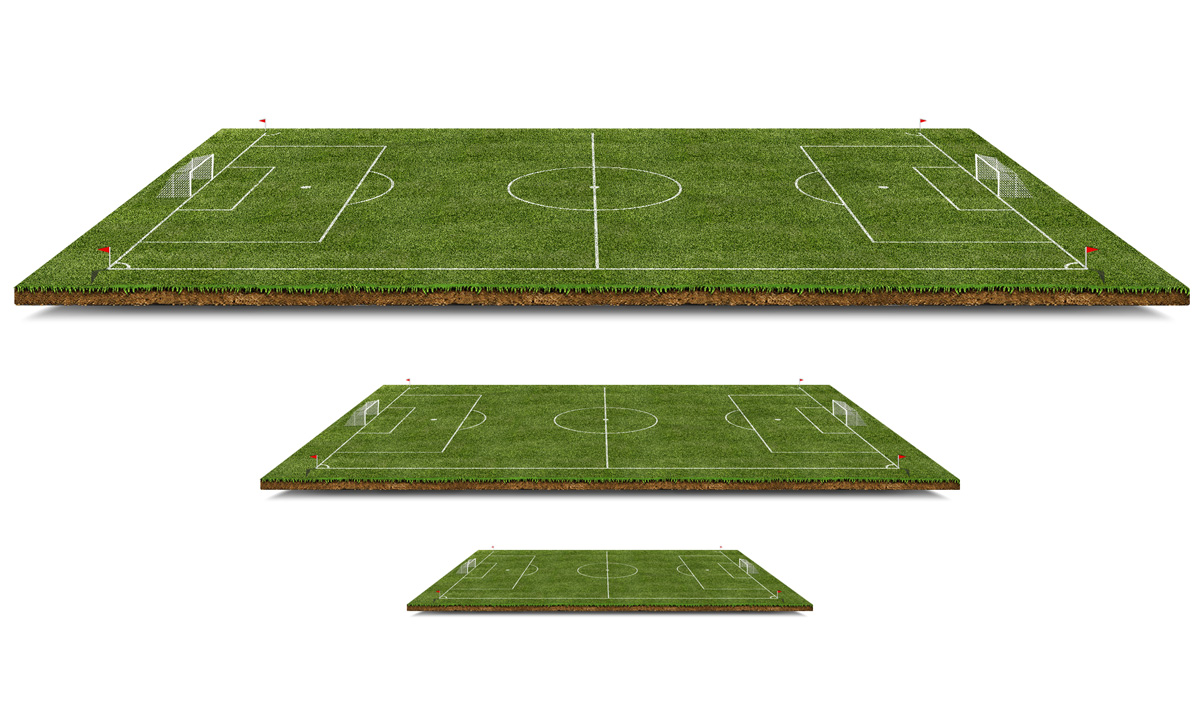 3D Football Pitch Free PSD File