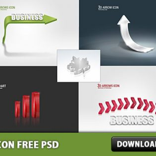 3d icon Free PSD