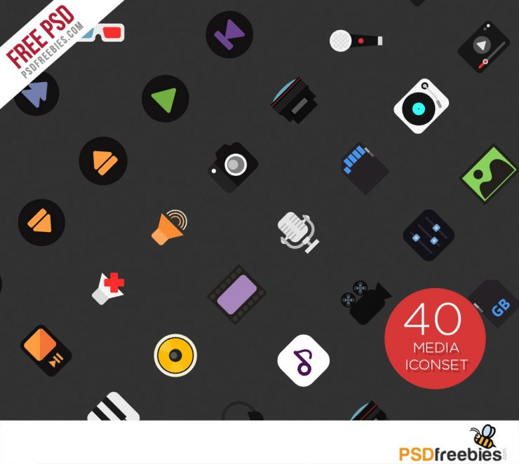 40 Music and Media Icon set Free PSD Web Resources, Web Elements, voice, Video, Vector, unique, Symbol, Stylish, stop icon, stereo, Speaker, sound mixer, Sound, set, Resources, recording studio, recorder, Record, Quality, Psd Templates, PSD Sources, psd resources, PSD images, PSD Icons, psd free download, psd free, PSD file, psd download, PSD, Player, play icon, Play, Piano, Photoshop, pack, original, Objects, new, musical, music note, Music, Movies, Modern, microphone, Mic, media, loudspeaker, listening, Layered PSDs, Layered PSD, instruments, iconset, Icons, Icon PSD, icon design, Icon, Headphone, Guitar, Graphics, Fresh, Freebies, Freebie, Free Resources, Free PSD, Free Icons, Free Icon, free download, Free, flat icons, flat icon, Film, Equipment, equalizer, Elements, Electric, earphones, download psd, download free psd, Download, Disk, detailed, Design, Creative, collection, Clean, Camera, Button, Audio, Adobe Photoshop,