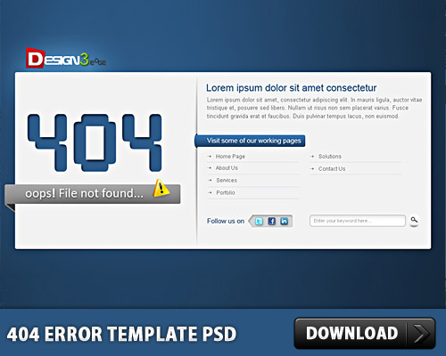 404 Error Template Free PSD Page www, Web Template, Web Resources, Web Layout, Web Design, Web, Template, Security, Psd Templates, PSD Sources, psd resources, PSD images, psd free download, psd free, PSD file, psd download, PSD, Layered PSDs, Free PSD, Error, download psd, download free psd, Design, 404 Template, 404 Page, 404 Error Page, 404 Error, 404,