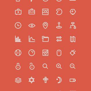 80 3px Icons Set Free PSD