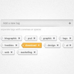 Tags Add Remove Widget PSD