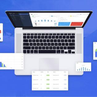 Admin Dashboard Panel UI Kit Free PSD