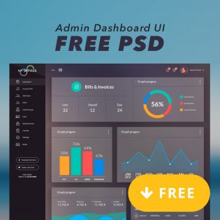 Admin Dashboard UI Free PSD