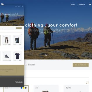 Adventure Store Website Template PSD