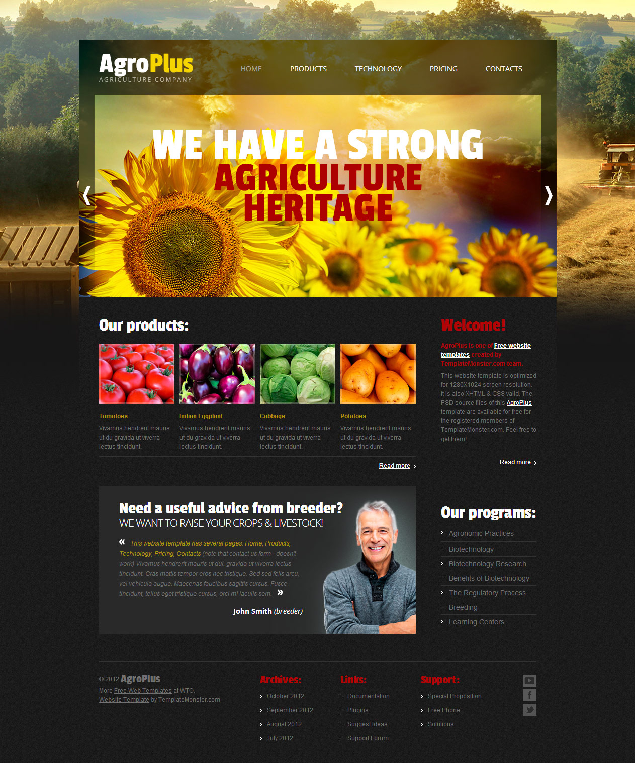 agro plus free psd template download download psd