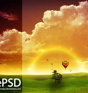 Amanecer Free PSD Tree, PSD, Photo Manipulation, Nature, Layered PSDs, Baloon,